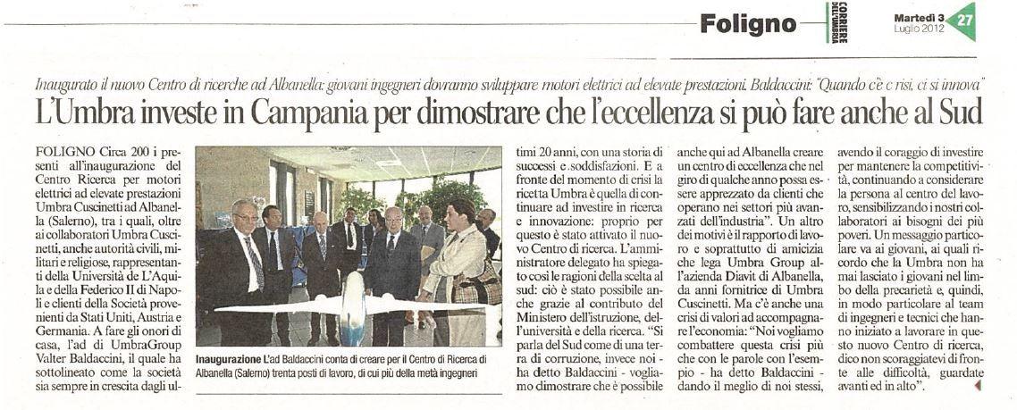 Inaugurazione del Centro di Ricerca di Albanella1